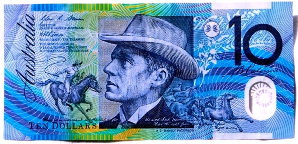 Aussie 10 dollar note-Banjo Paterson who wrote The Man From Snowy River