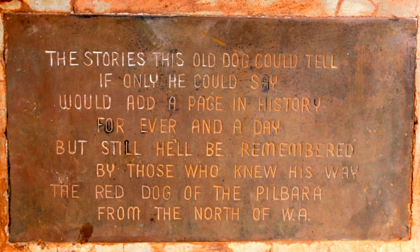 Red Dog Memorial Plaque