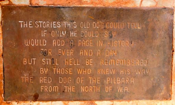 Red Dog Memorial Plaque