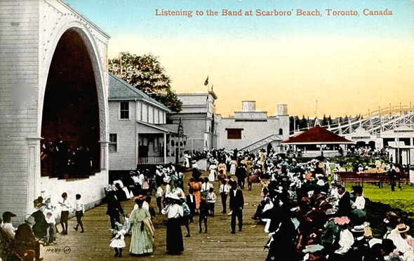 Listening to the Band at Scarboro Beach early 1900s