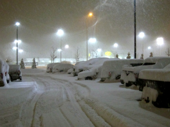 Snowbound Cars in Barrie Ontario