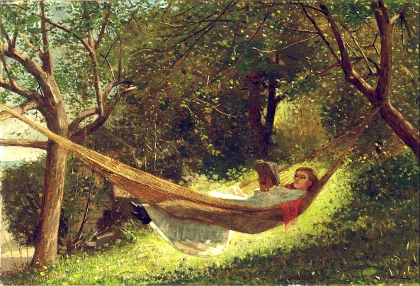 Girl in the Hammock -Winslow Homer (wikimedia commons)