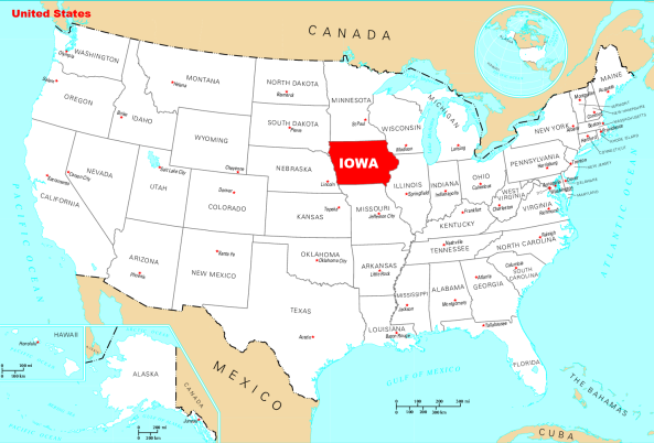 Where is Iowa located?