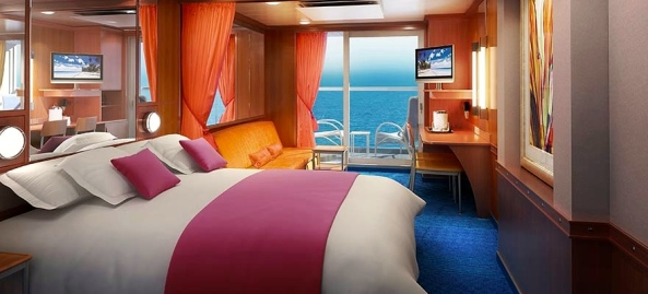 Norwegian Pearl mini-suite with balcony