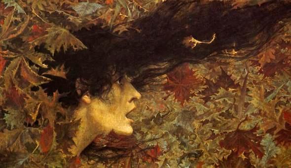 Autumn Wind (artist Lucien Levy Dhurmer)
