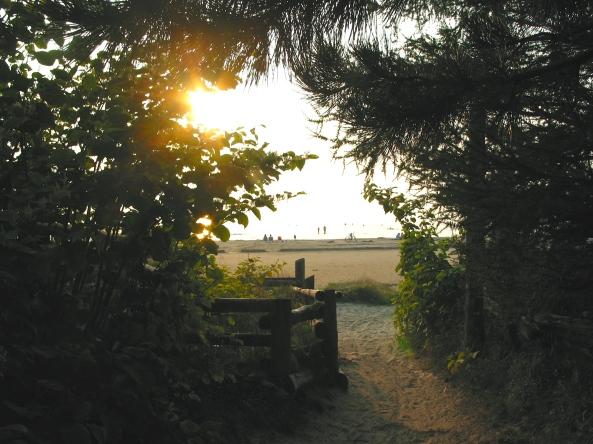 Beach entrance at Carson's Camp
