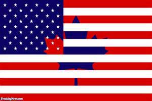 Canadian-American flag?