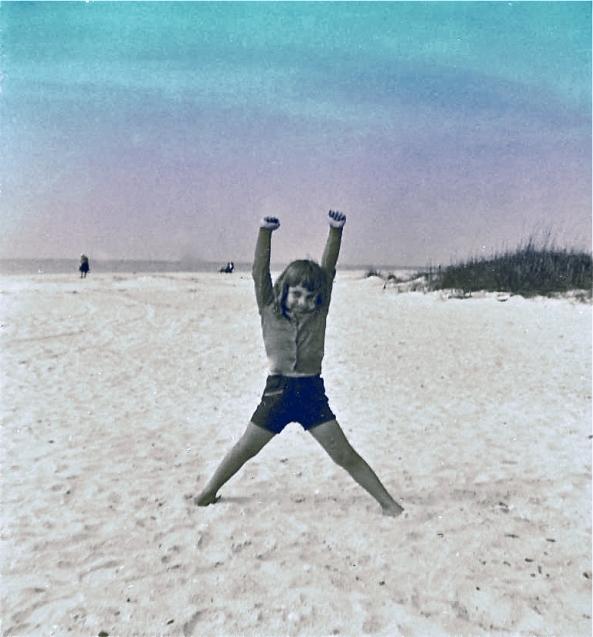 Deb-at-the-Beach,-Florida